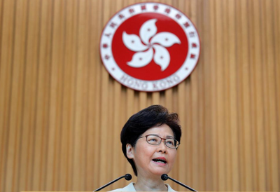 Hong Kong leader says she would 'quit' if she could