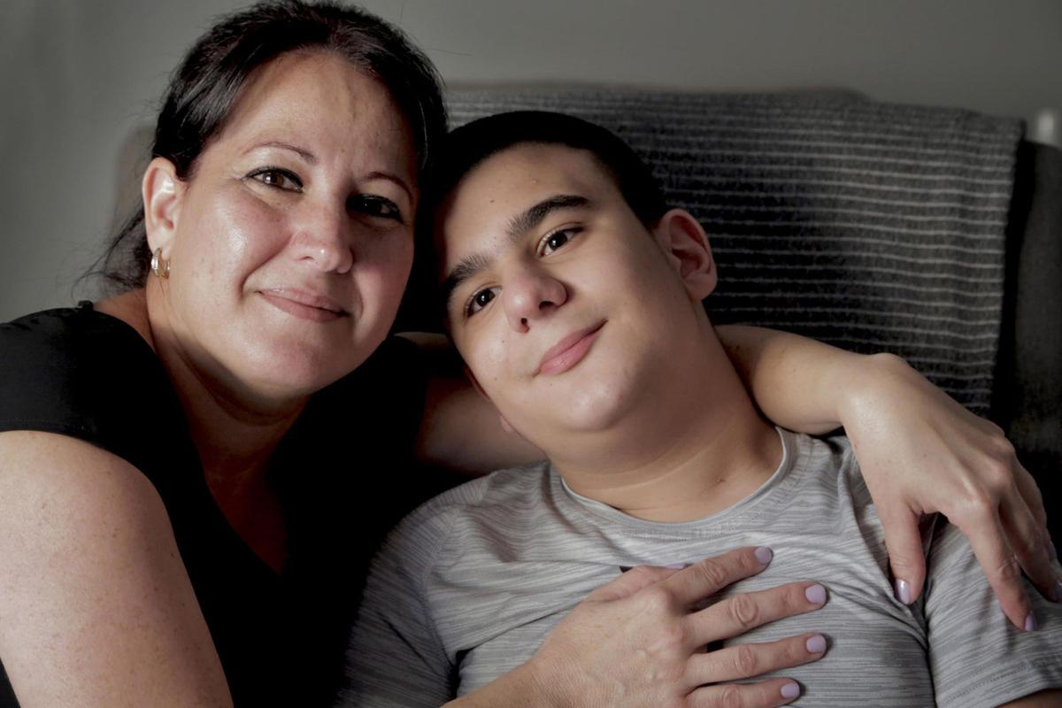 This 13-year-old loves Pitbull and Shakira, but he needs more than that to help him walk