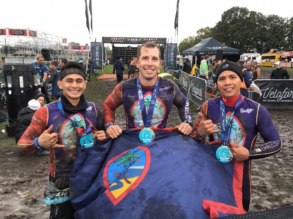 Guam Ninjaz tackle UK obstacle course