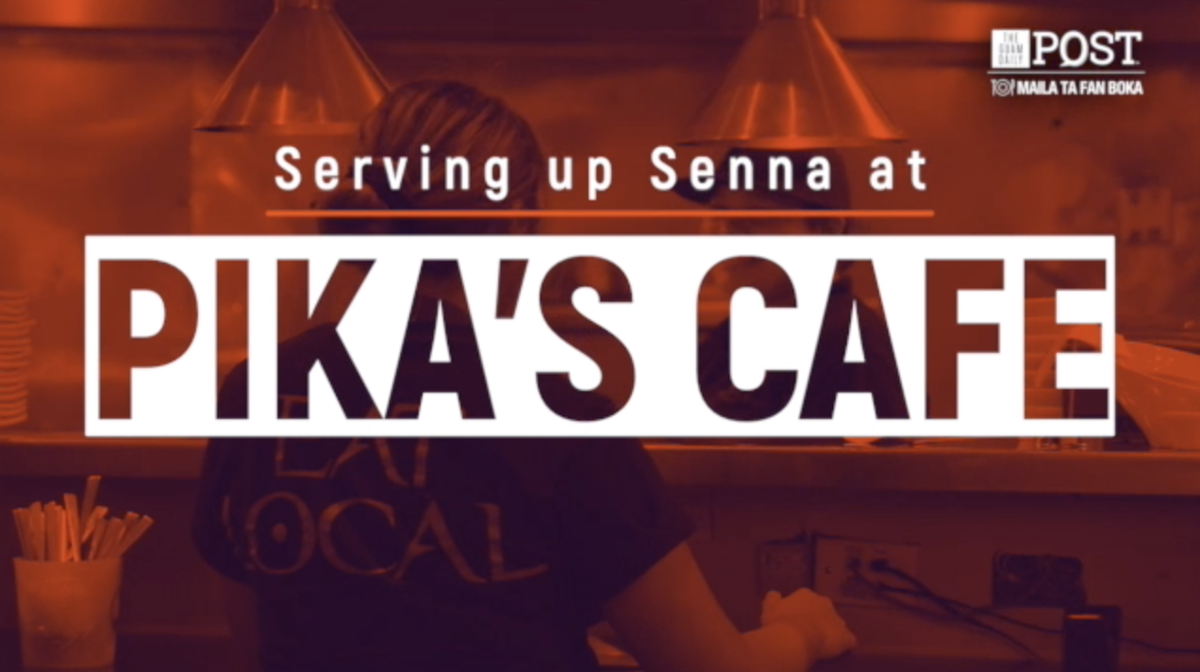 Serving up senna at Pika's Cafe
