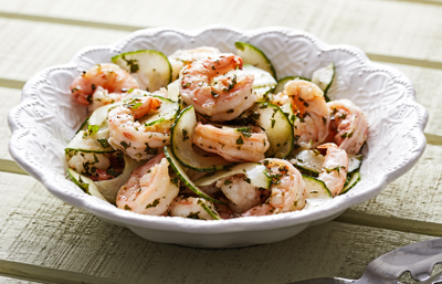 It's hot outside. Stay cool with this crisp and refreshing shrimp salad