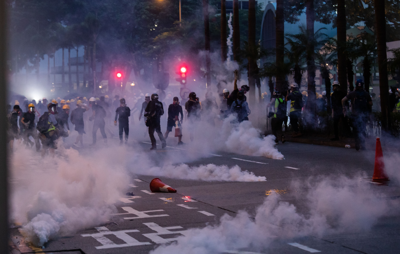 Tear gas, petrol bombs mar 10th weekend of Hong Kong protests