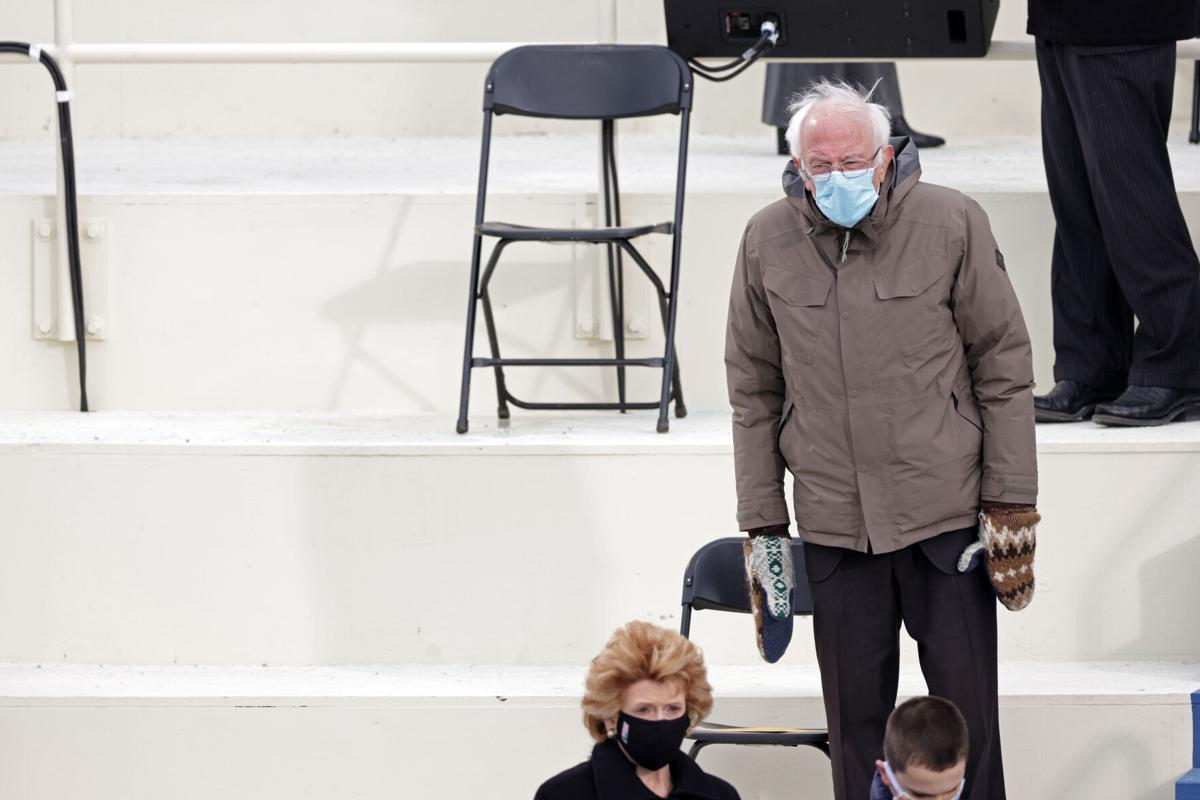 The inside story of Bernie Sanders' 'grumpy chic' inauguration mittens