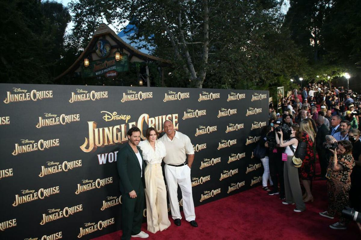 'The Jungle Cruise' premiere aims for the 'joy and nostalgia' of Disneyland