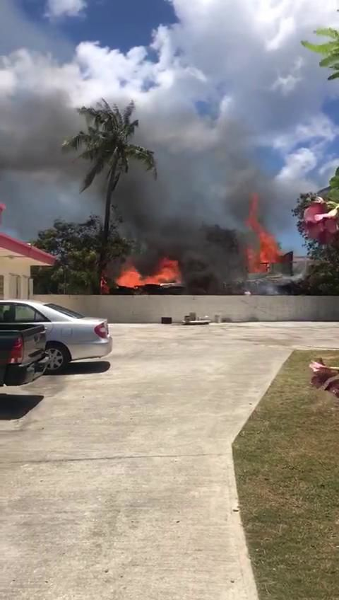 GFD responds to fire in Tamuning