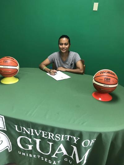 Jacether Andrew joins Niah Siguenza at UOG