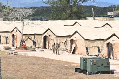 Tent hospital will be moved to Naval Base Guam