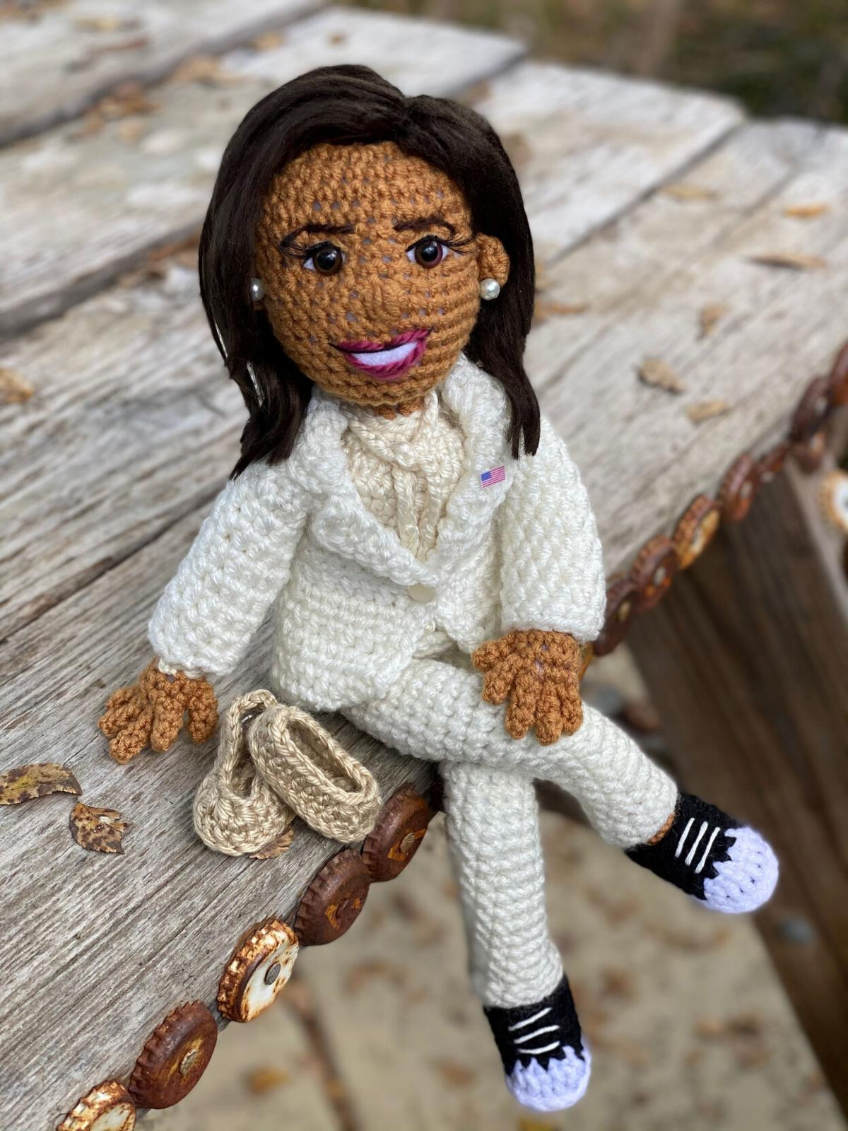 Crocheters celebrate one of their own: Vice President Harris