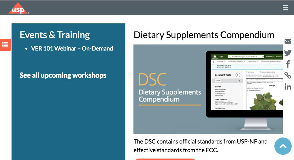 Avoiding fake dietary supplements