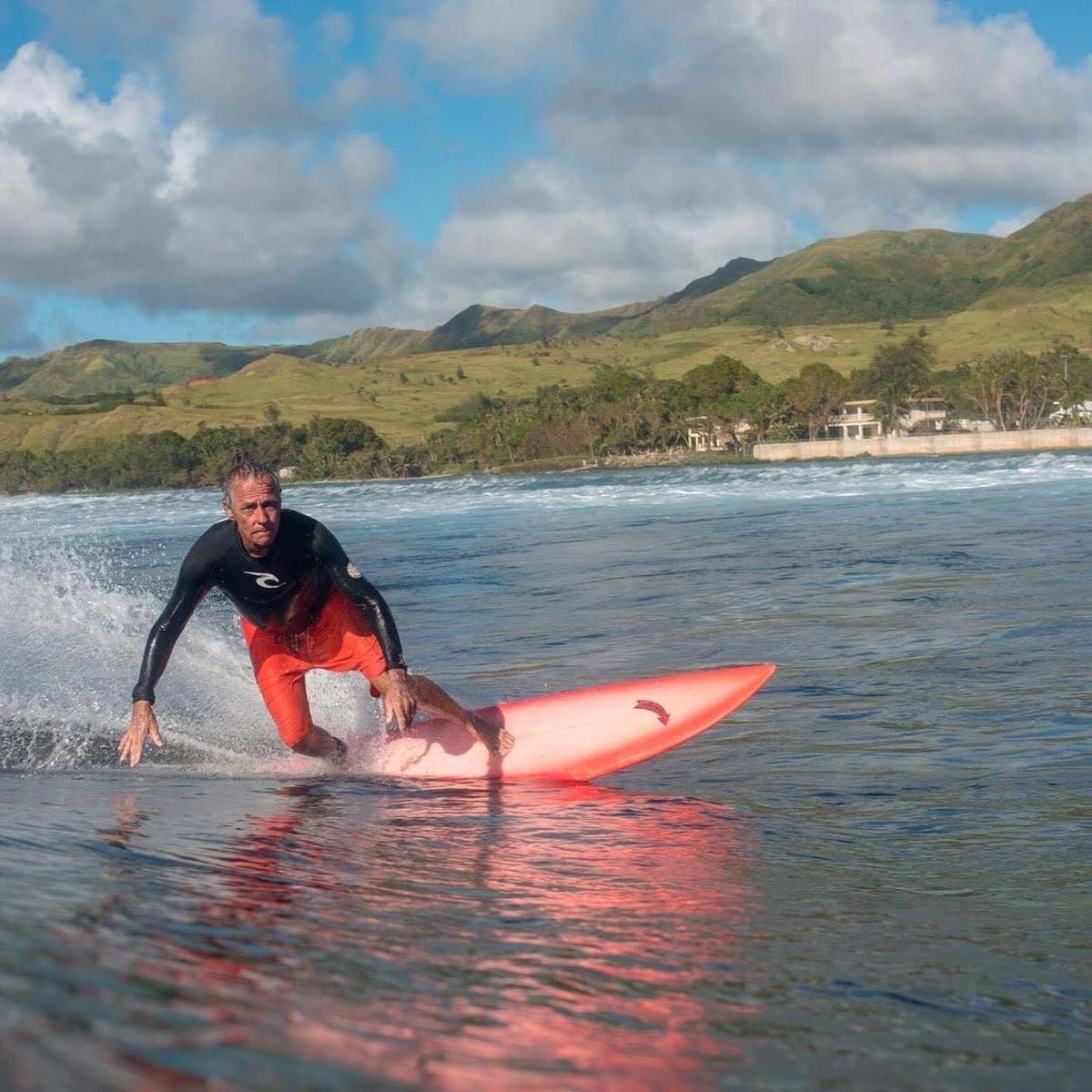Surfing legend Kenneth Pier's memorial today