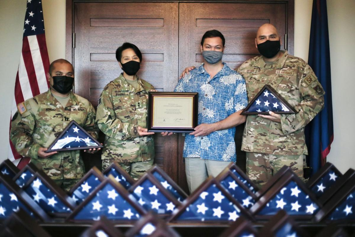 Guam guardsmen to receive flags for role in Capitol security