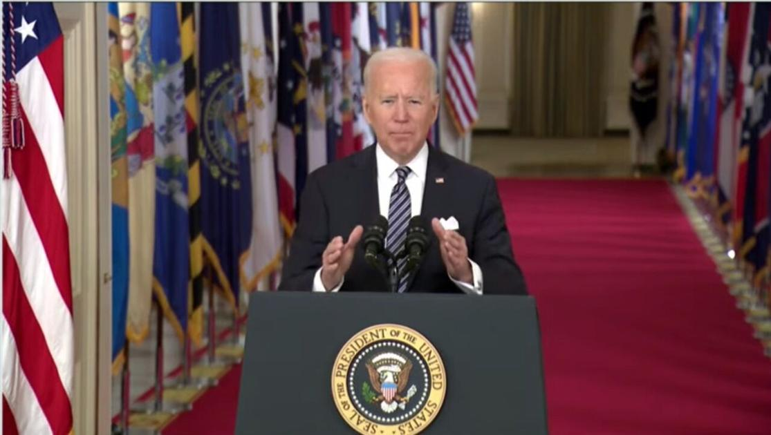 President Biden announces all adults to be eligible for vaccinations by May 1; plan brings nation 'closer to normal' by July 4