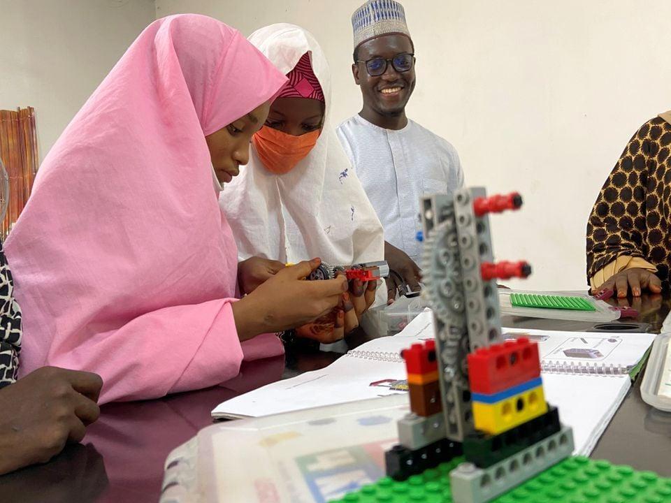 Teenage girls in northern Nigeria 'open their minds' with robotics
