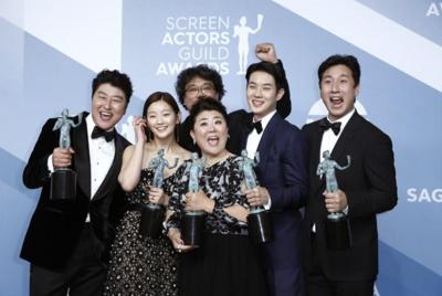 'Parasite' scores historic upset at SAG awards