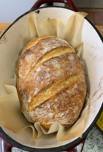 Enjoy a slice (or more) of heaven with this recipe for no-knead bread