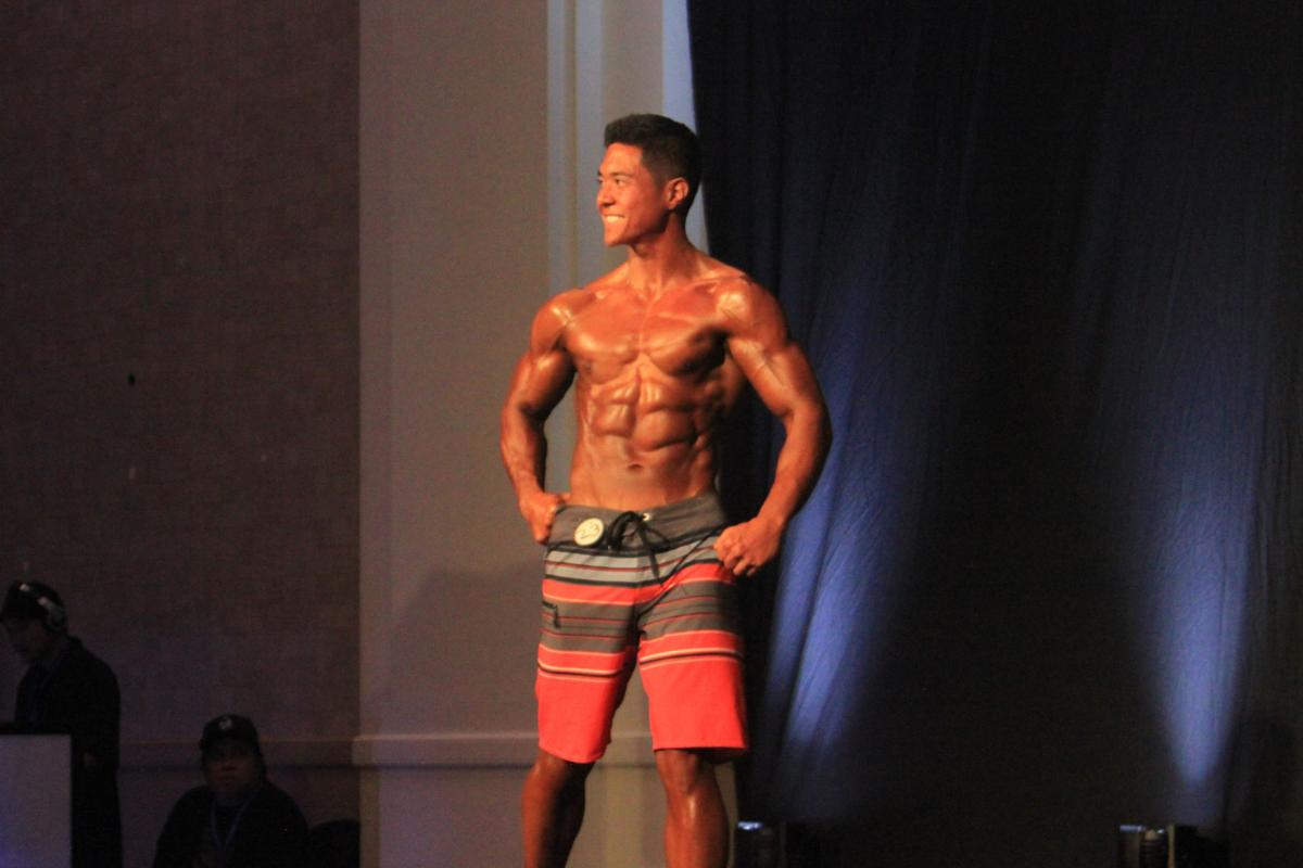 Athletes flex for 2017 Michelob Ultra Guam Bodybuilding and Fitness Championships