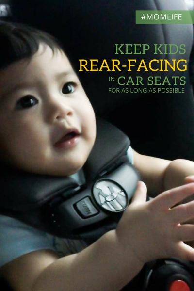 Car seats: Keep children rear-facing as long as possible
