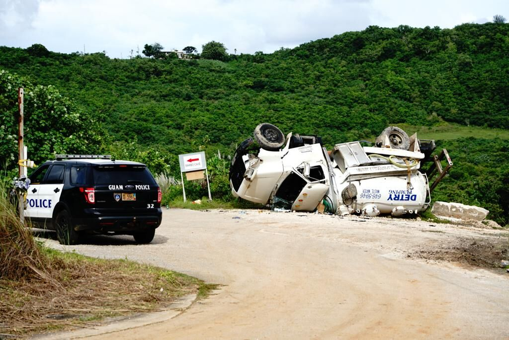 Overturned truck claims life