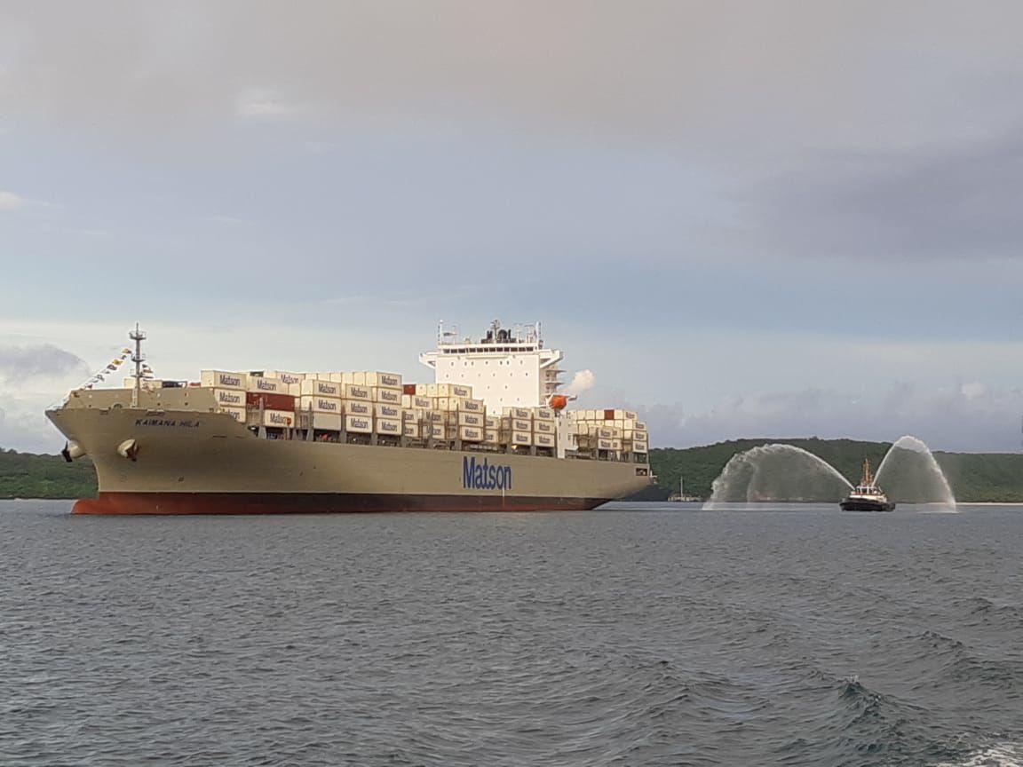 Matson's newest Aloha Class ship comes to Guam