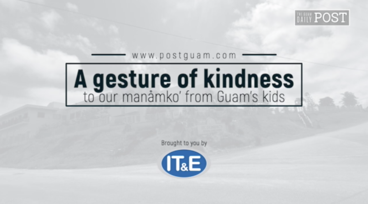 A gesture of kindness to our manåmko' from Guam's kids