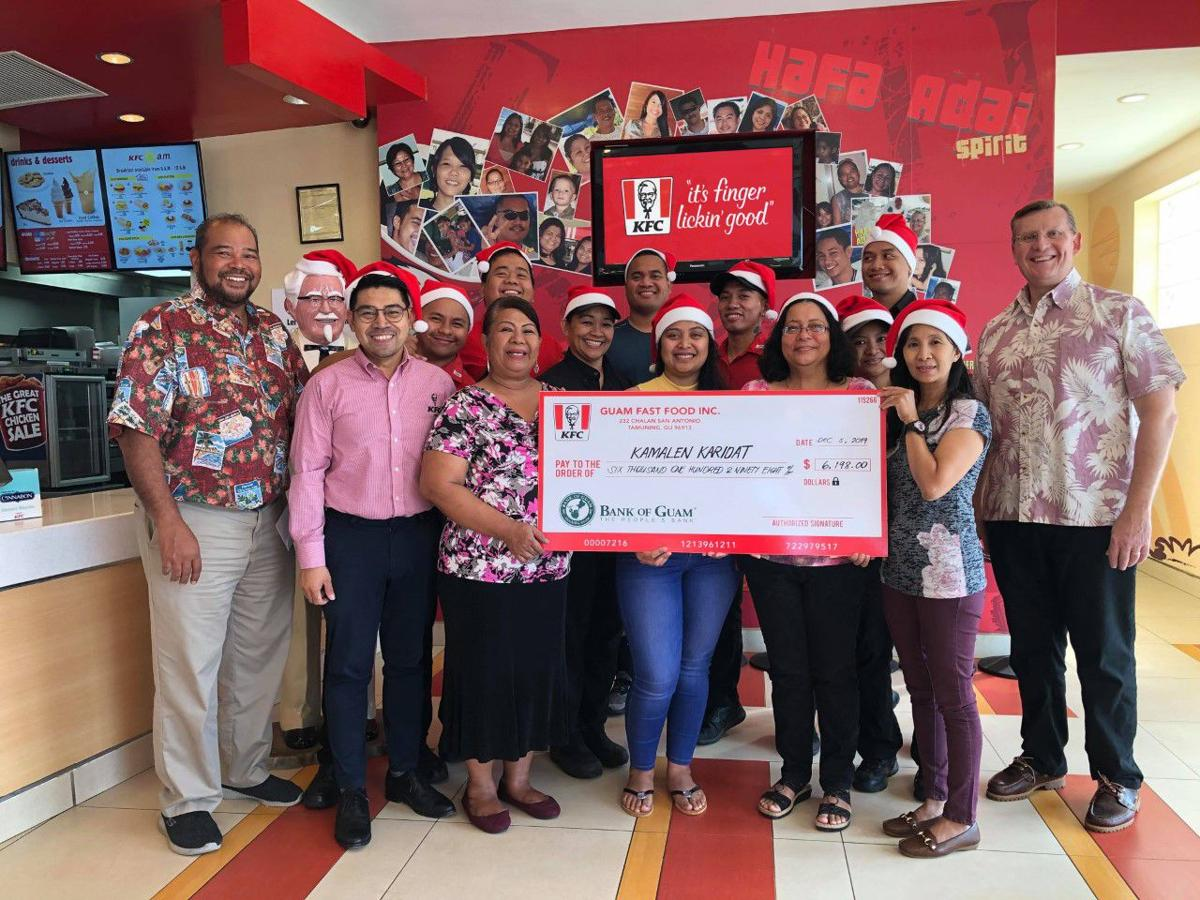 KFC Guam, its customers help charitable organization