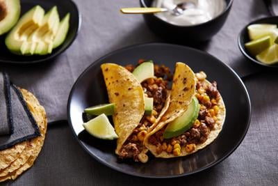 Skillet-cook summer corn and chorizo for tacos that pop with summer flavor