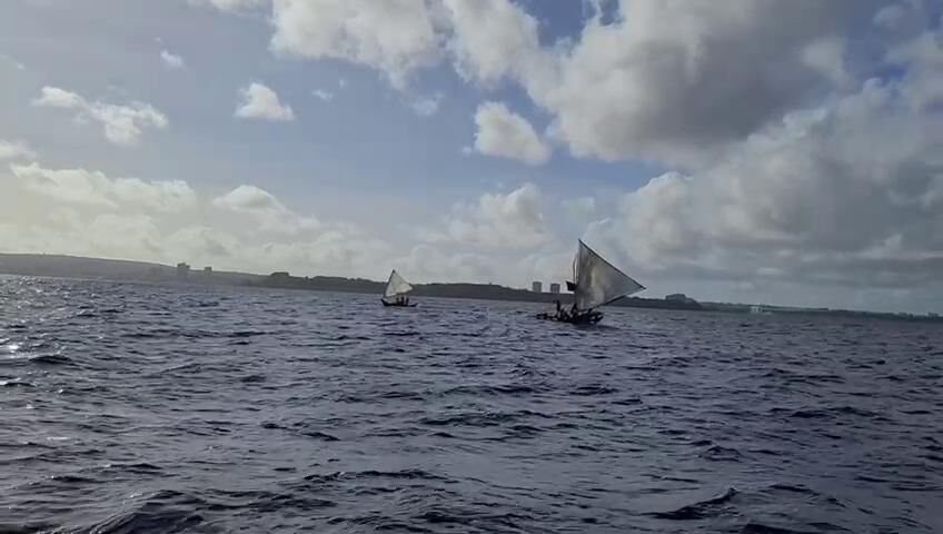 Guam seafarers sail along as Spanish naval training ship visits as part of Magellan commemoration