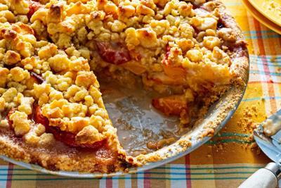 This easy peach crumble pie recipe spotlights summer's most sensual fruit