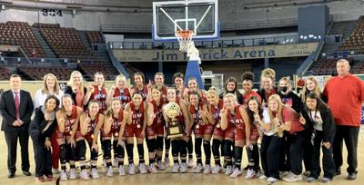 Howe girls basketball 2021 Class 2A state champs