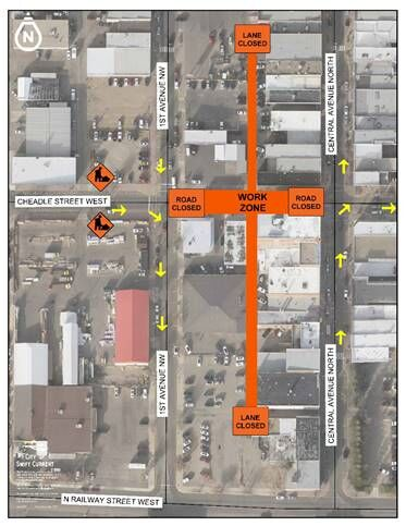 Swift Current has a downtown road closure