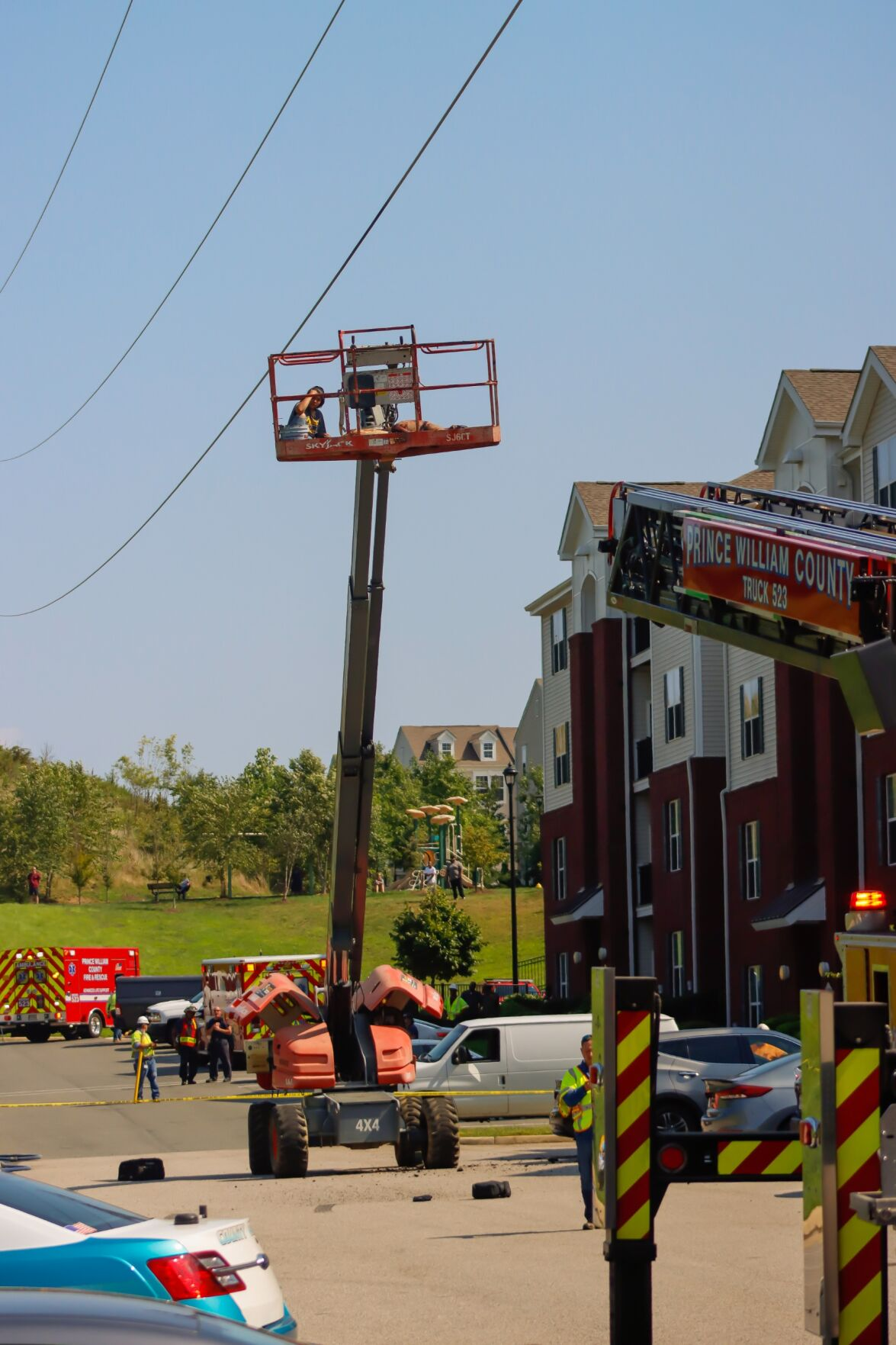 power outage construction mishap Woodbridge