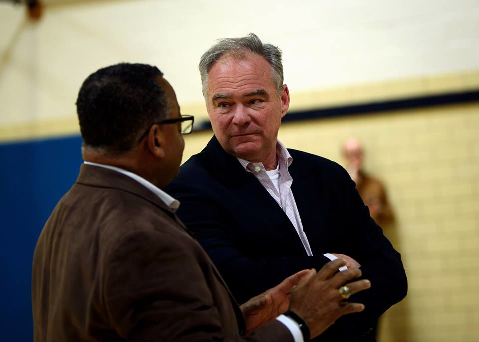 Sen. Tim Kaine and NAACP President Cozy Bailey