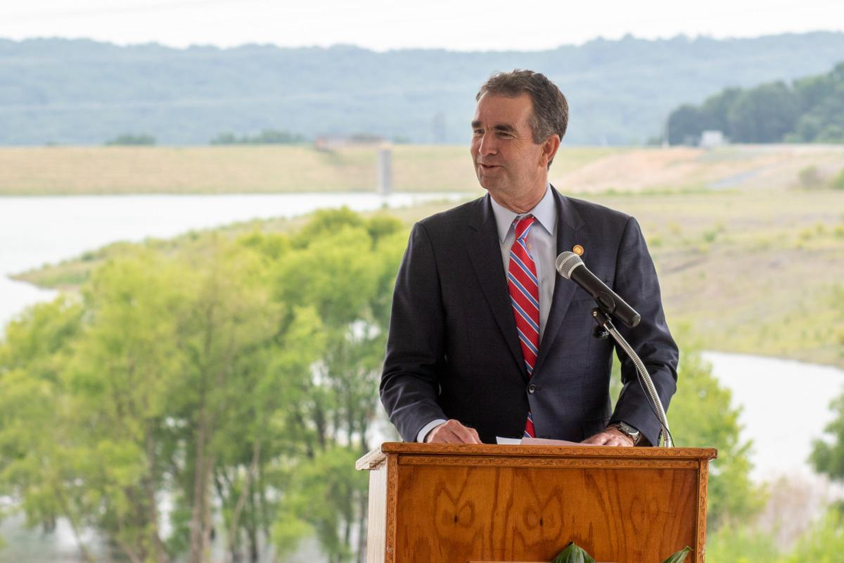 Gov. Ralph Northam at Possum Point power plant coal ash
