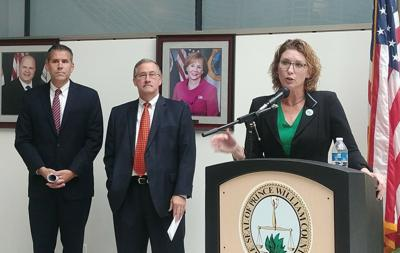 Pete Candland, Frank Principi and Jeanine Lawson rural crescent resolution press conference