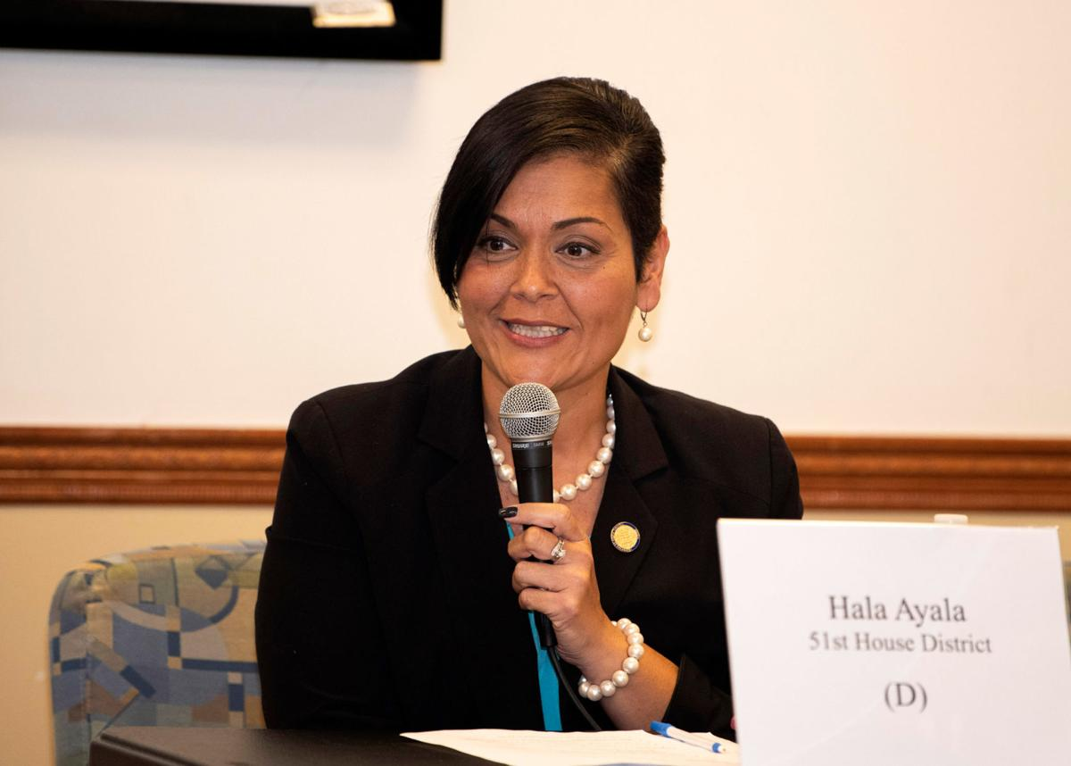 Del. Hala Ayala, D-51st, during Oct. 10 candidate forum