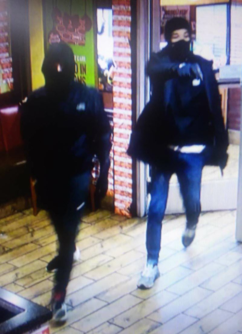 armed robbers entering Denny's