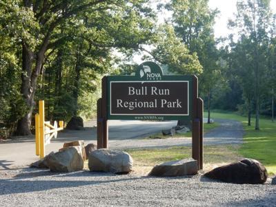 Bull Run Regional Park sign