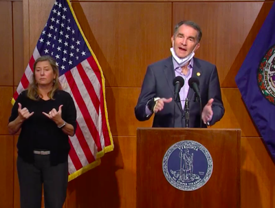Gov. Ralph Northam on Nov. 10 COVID press conference