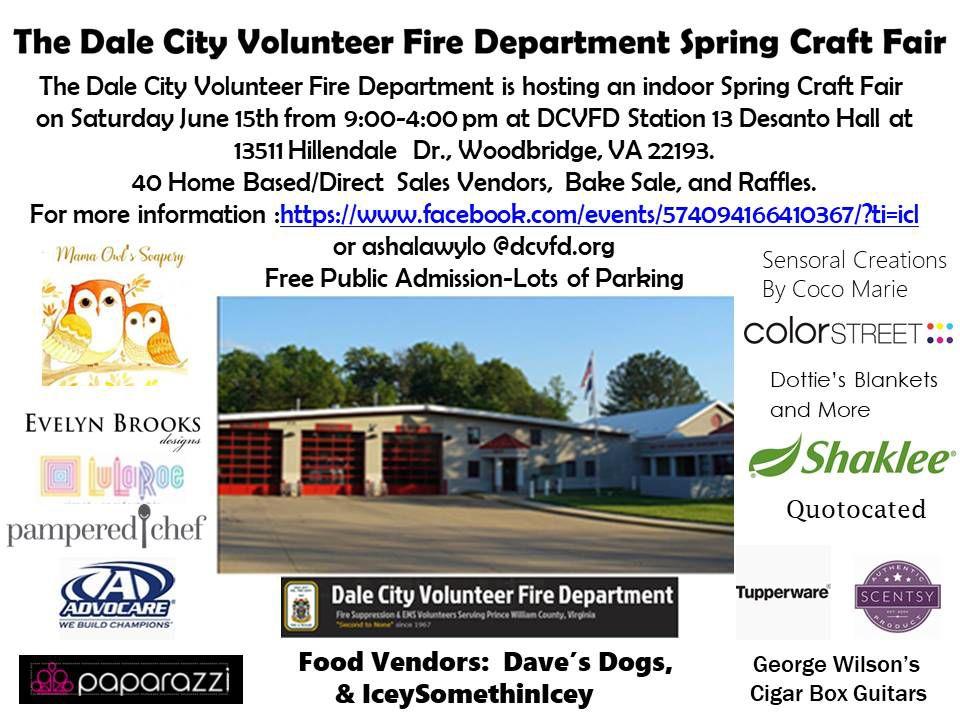 Dale City Volunteer Fire Department Spring Craft Fair