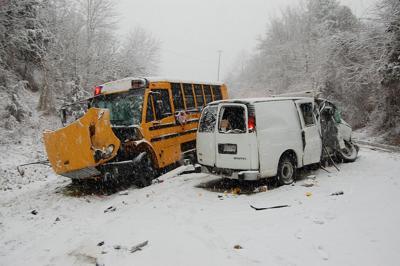 school bus crash fatal snowstorm