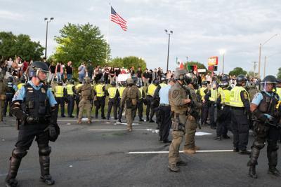 Prince William County police Manassas protest George Floyd.jpg