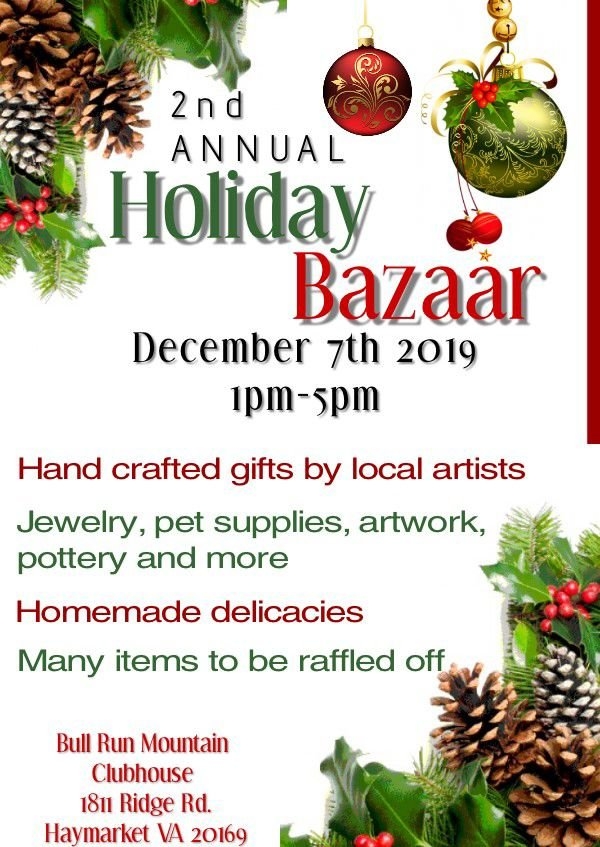 Holiday Bazaar on Bull Run Mnt