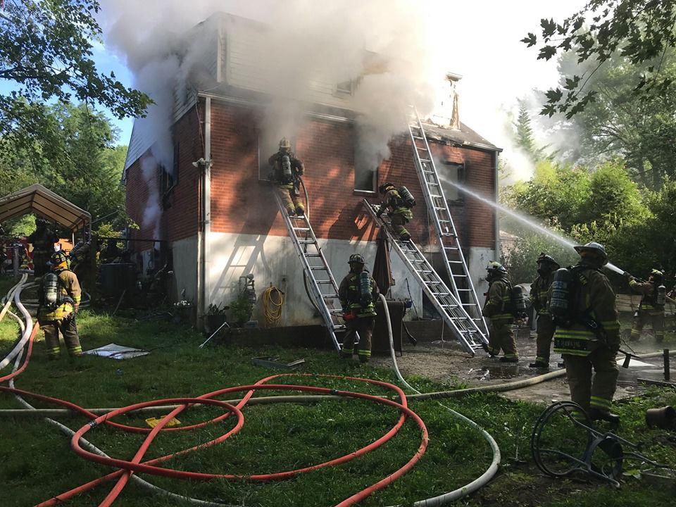Dale City house fire 3100 block of Burbank Lane in Dale City