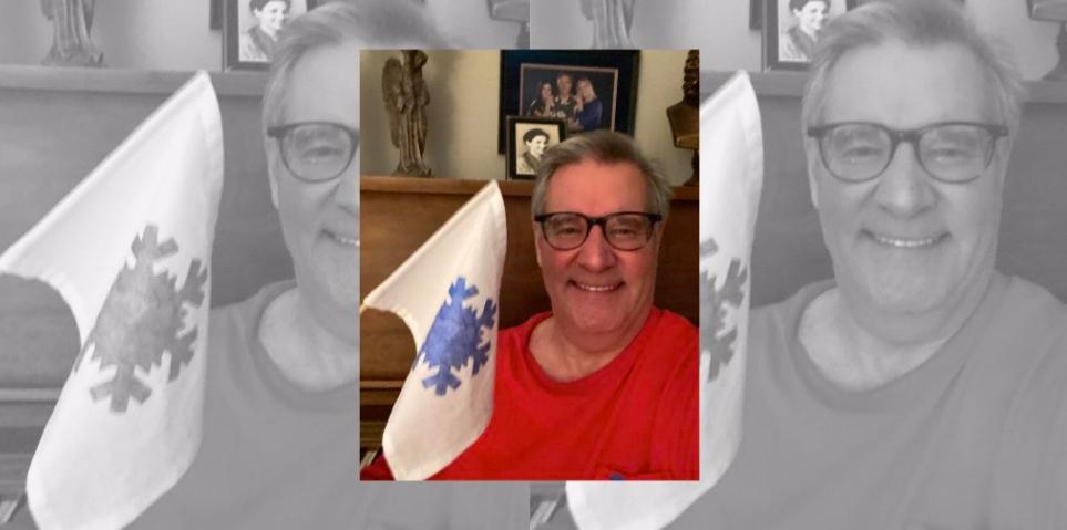 superintendent Steven Walts snow flag