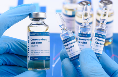 COVID-19 vaccine generic bottles of vaccine