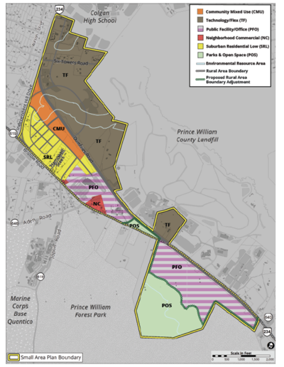 The independent Hill Small Area Plan map
