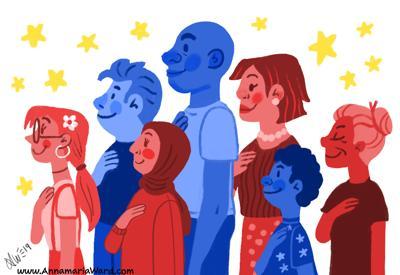 editorial cartoon: immigrants