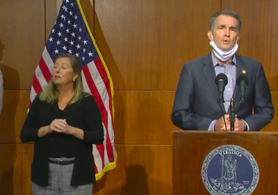 Gov. Ralph Northam during a press conference on Tuesday, July 28