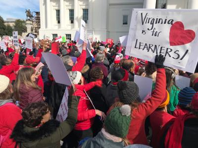 Red4Ed rally in Richmond, Monday, Jan. 28, 2019