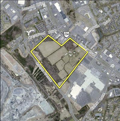 Location of data center proposed near the Manassas Mall